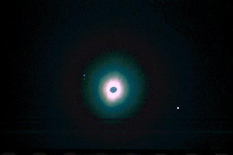 Eclipsed Sun, Mercury and Venus, 50mm lens