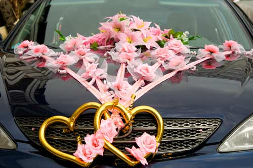 heart wedding car decorations