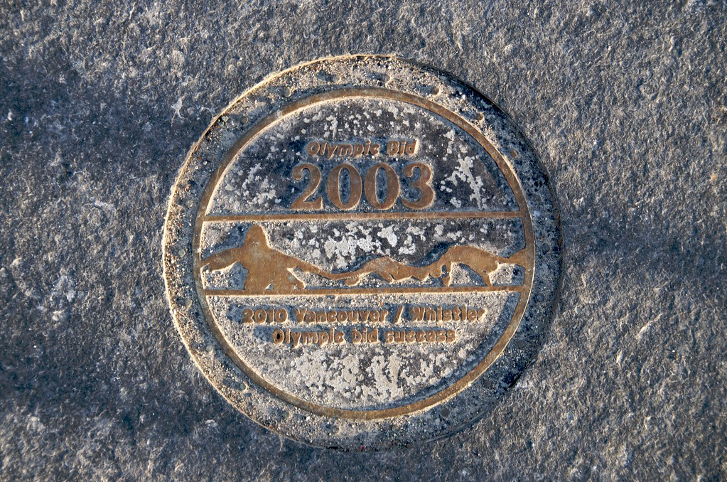 2003 Olympic Bid Plaque on Creekside Bridge