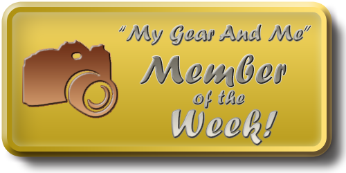 My Gear And Me - Member of the Week Award