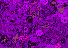 happy purple ((((sam)))) Tags: illustration purple doodle saam