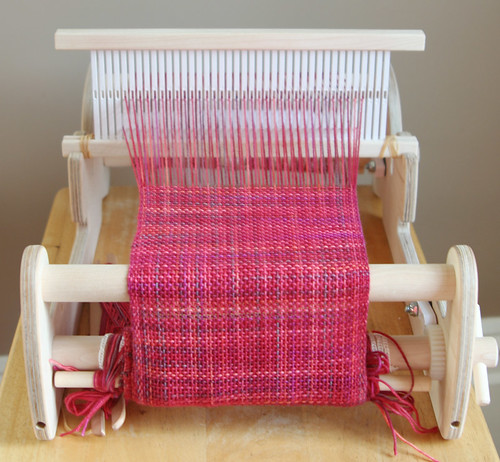 Scarf, on the loom