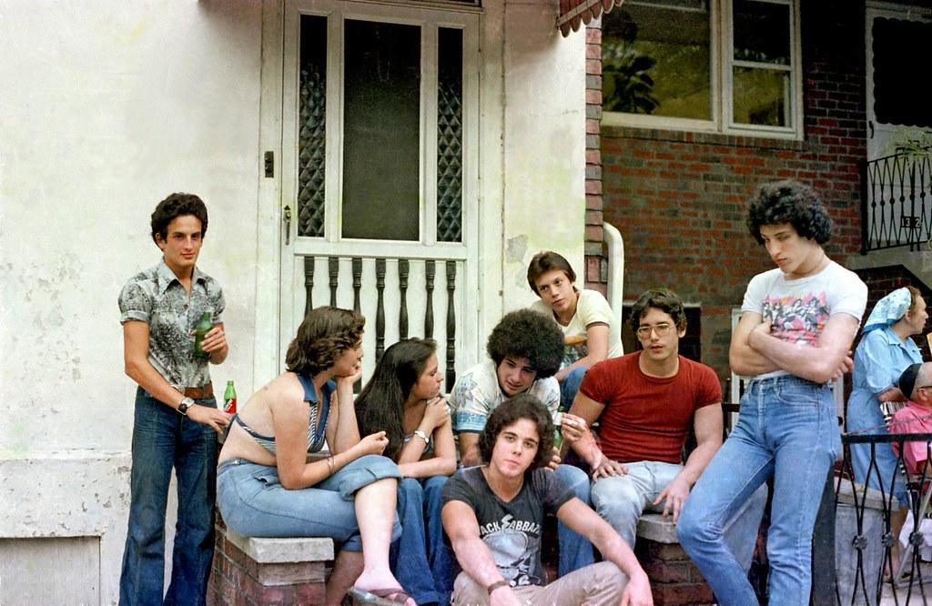 Boro Park Brooklyn 1977 - Stoop 57st