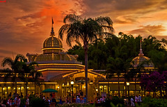 Walt Disney World - Magic Kingdom - Crystal Palace Sunset (Tom.Bricker) Tags: sunset vacation architecture america photoshop landscape liberty orlando nikon raw florida dusk tinkerbell kingdom disney mickey adventure explore disneyworld pooh future wishes mickeymouse winniethepooh characters tigger piglet nikkor wdw dslr waltdisneyworld figment eeyore tomorrowland magical iconic themepark mk foundingfathers magickingdom frontier goldenhour crystalpalace fantasyland toontown adventureland waltdisney frontierland mainstreetusa congrats cinderellascastle wdi lakebuenavista imagineering colorsaturation colorfulsky disneyresort nikondslr disneypictures poohandfriends nikond90 photoshopcs3 liberysquare disneypics waltdisneyimagineering wedenterprises wdwfigment tombricker vacationkingdom vacationkingdomoftheworld disneyworldpictures waltdisneyworldpictures goldenhourphotography crystalpalacedome
