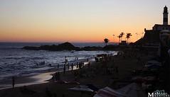 Marcelo Santana (Marcelo_Santana) Tags: praia azul contraluz mar preto vermelho amarelo prdosol faroldabarra canon450d canonxsi marcelosantana