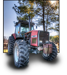 The Tractor at Ravenwood Farm in Pollocksville, North Carolina :: OOB (Artie | Photography :: I'm a lazy boy :)) Tags: tractor photoshop nc nikon cs2 farm northcarolina tokina 11mm hdr artie oob pollocksville ravenwood d90 photomatix tonemapping tonemap robhanson rlhanson