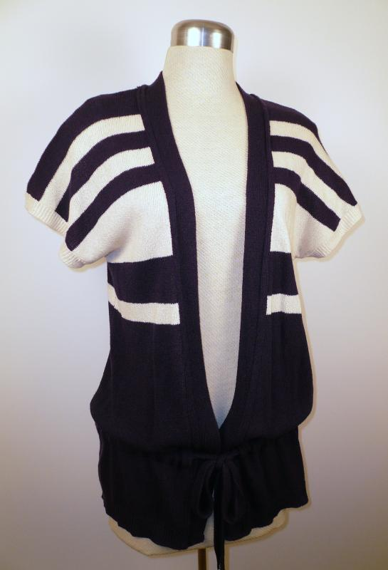knit vest belt tied