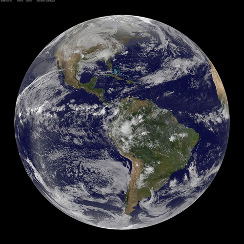 GOES 12 Full Disk view March 10, 2010