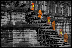 Nirvana (eneko123) Tags: orange stairs photoshop cutout temple cambodge cambodia kambodscha southeastasia cambodian khmer nirvana buddha buddhist almostbw kingdom monk buddhism upstairs monks siem reap 5d vat angkor wat templo escaleras monje cambodja buddhists kemboja kamboja monjes eneko123 柬埔寨 camboya カンボジア kampuchea kambodza cambogia budistas campuchia reab kambuja tenplu 캄보디아 preahreachanachâk ประเทศกัมพูชา камбоджа cambyses καμπότζη कंबोडिया कम्बोजदेश kambujadesa preăhréachéanachâkkâmpŭchea srokkhmae khmerland kambodya