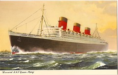 SS Queen Mary Postcard