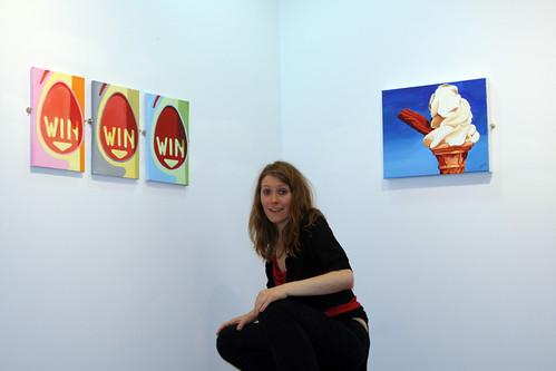 artist jane hall alongside her