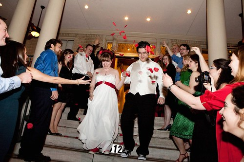 Sending off the newlyweds!