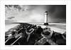 Perch Rock Lighthouse, New Brighton (Ian Bramham) Tags: bw lighthouse beach rock river landscape photography book photo nikon fineart perch mersey wirral breakwater newbrighton blurb merseyside d40 ianbramham nikondslrforum asweseeit2010