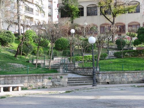anatomía del parque de la victoria de jaén: escaleras
