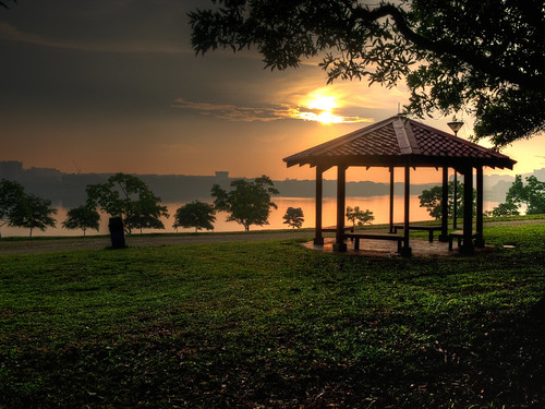 Sunrise at Bedok Reservoir