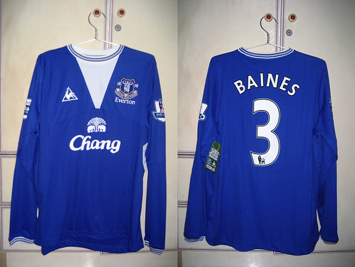 Everton 2009-2010 Home L/S (BAINES)
