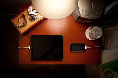 Bedside (Louis Abate) Tags: apple canon sony wifi bedside lacie seiko charging 3gs nightstand iphone redundancy ipad canon1740f4 consumerelectronics yesalittle canon5dmarkii