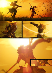 Sengoku Basara: Battle at Sundown p.1 (Paul Mercado (Dre Merc)) Tags: sunset toy actionfigure sundown kaiyodo theotherside datemasamune revoltech sengokubasara sanadayakimura otakubutgangsta