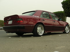 Mercedes-Benz 500E W124 (q8500e) Tags: auto red hot tower car wow germany one benz 1 cool fast 124 e 1992 kuwait 500 mb waw amg q8 w1