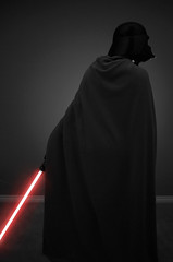 1.52    Rise, a new Era. (LazyThumbs) Tags: red blackandwhite silhouette catchycolors starwars mask week1 empire cloak lightsaber darthvader lordvader 52weeks maythefourth