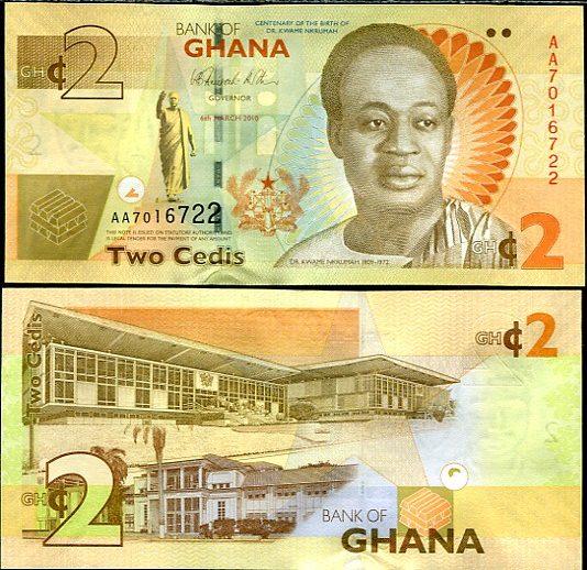 2 Cedis Ghana 2010