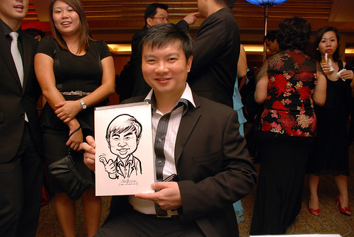 caricature live sketching for Great Eastern Achievers Nite 2011 - 9