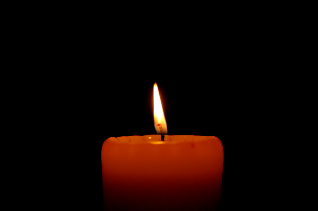 The solitary candle