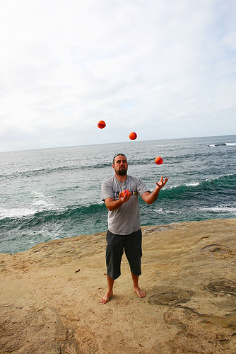 Juggling at the Pacific