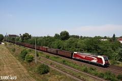 481 002-8 2011.06.22. Győr-Gyárváros (mienkfotikjofotik) Tags: train eisenbahn rail railway bahn freight traxx güterzug kolej ac2 koleje f140 tehervonat vasút eurocom vasutak privatbahnen