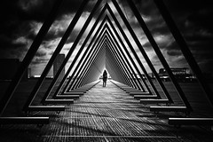 """The Wave"" - Ofelia Plads (Bo Hvidt) Tags: fujifilmxt2 xt2 fujinonxf23mmf2rwr xf23mm bohvidt blackwhite bw blackandwhite monochrome nik nikcollection silverefex thewave copenhagen"