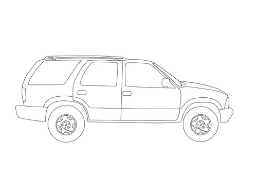 coloring pages silverado - photo#26