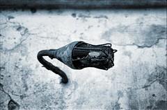 Light Fixture (Soupmeister) Tags: blackandwhite bw film blackwhite tmax gimp athens greece urbanexploration tmax400 canona1 waterworks abandonment kodaktmax400 dereliction ue attica c2g kodaktmax attiki filmscanner