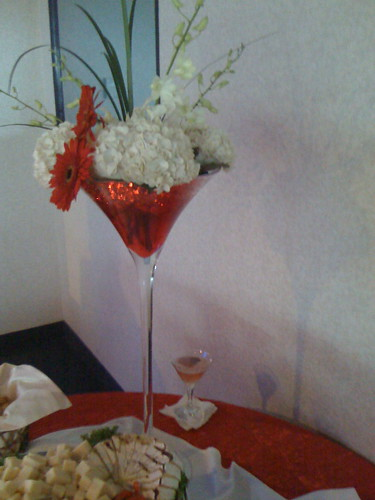martini glass centerpieces. Martini Glass Centerpiece