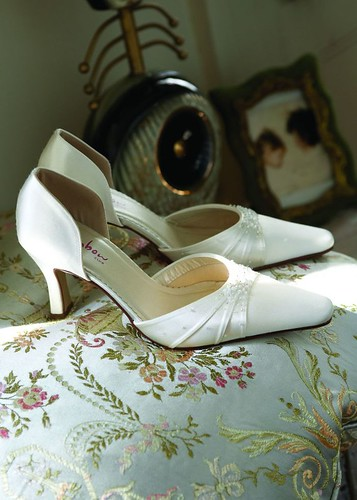 Strapless wedding shoes.