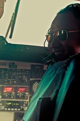 ye smiley co-pilot (pablo_martin) Tags: nepal sunglasses smiling flight cockpit airline kathmandu nepalese pokhara pilot