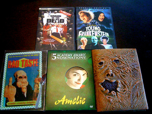 Taking some horror movies to a friend's house