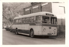 King Alfred bus, SCG 856, 1957 Leyland PSCU1/2, Winchester - November 1972 (mikeyashworth) Tags: hampshire winchester 1972 leyland leylandtigercub leylandbus kingalfredmotorservices kingalfredbus 11november1972 leylandpscu12 weymannbodywork scg856 mikeashworthcollection