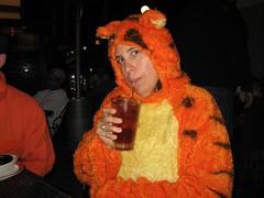 Amy as Tigger. (10/31/2009)