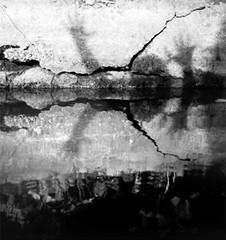 drown 1 (bakmak71) Tags: bw analog sw schatten spiegelung selbstportrait minoltax300 selbstauslser
