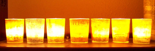 Tea Light Holders Lit