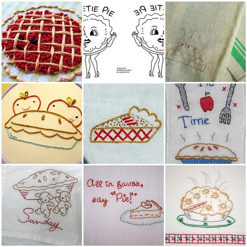 Pie Embroidery Mosaic