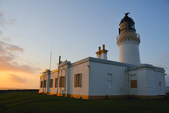 Noss head lighthouse at sunset, Wick, Caithness, Scotland (iancowe) Tags: sunset summer lighthouse alan evening scotland head scottish stevenson sinclair wick caithness noss