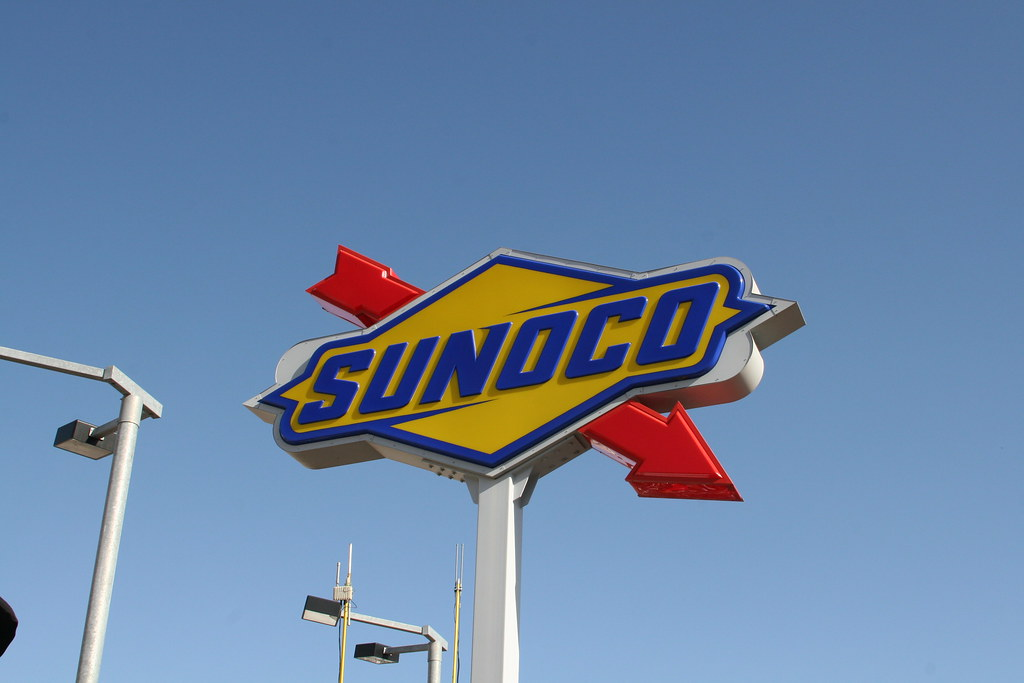 Sunoco on pit road.