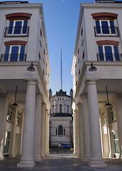 Quare Saint (TBSteve) Tags: new blue sky square cathedral belfast symmetry spire getty column saintannes
