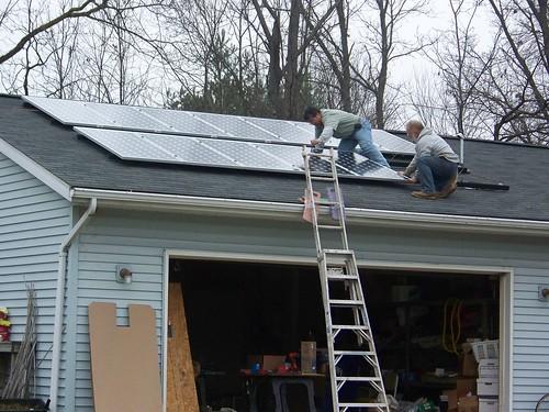 Solar array nears completion