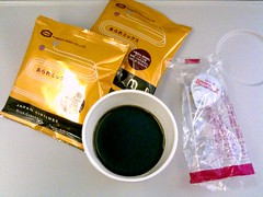 Good coffee and Japanese snacks, JAL 721