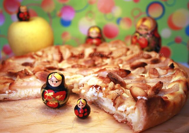 ricetta con foto Crostata alle mele con ricotta e mandorle