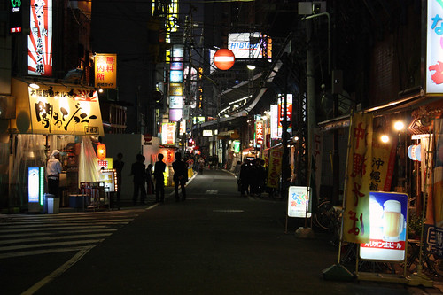 Shimbashi at Night
