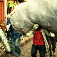 Heavy load (Irene2005) Tags: africa 35mm square market vivid ethiopia addisababa merkato postprocessing f20 heavyload primelens twtmeiconoftheday nikond90 gettysubmission