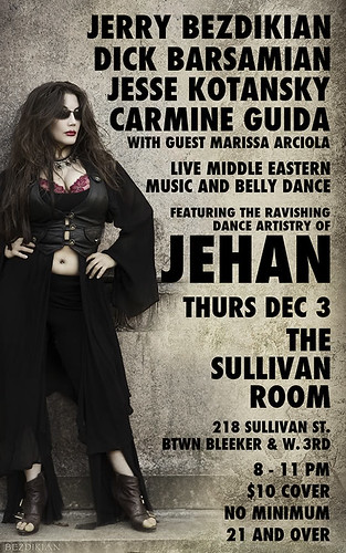 Jehan at the Sullivan Room Thurs Dec 3